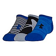 Kid's Under Armour Next 2.0 Solo No Show 3 pack Socks