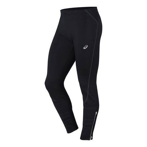 Mens ASICS Lite-Show Winter Tights & Leggings Pants - Performance Black M