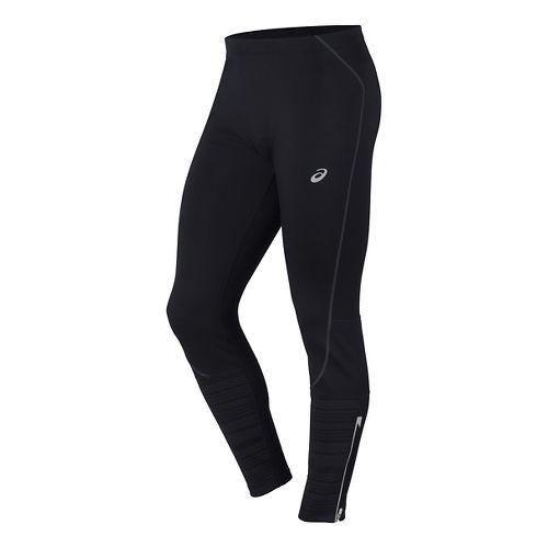 Mens ASICS Lite-Show Winter Tights & Leggings Pants - Performance Black XL