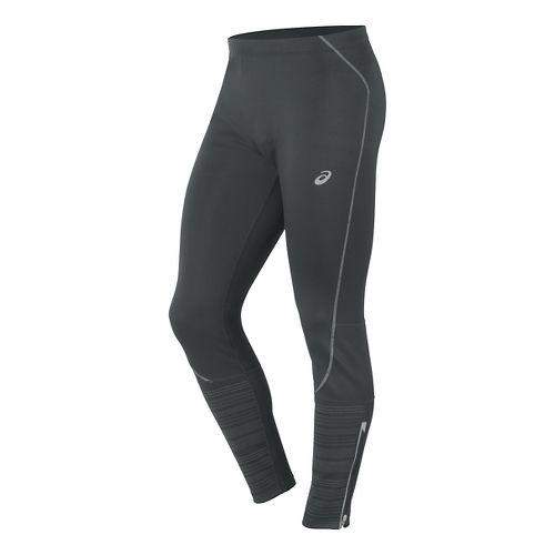 Mens ASICS Lite-Show Winter Tights & Leggings Pants - Dark Grey M