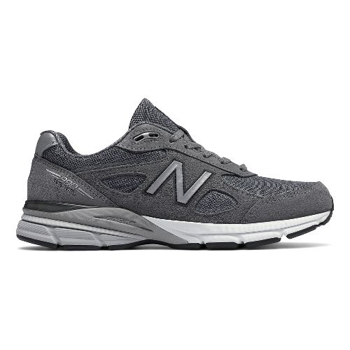 Mens New Balance 990v4 Reflective Running Shoe - Dark Grey 10