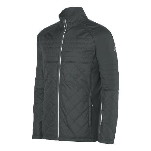 Mens ASICS Thermo Windblocker Cold Weather Jackets - Dark Grey L