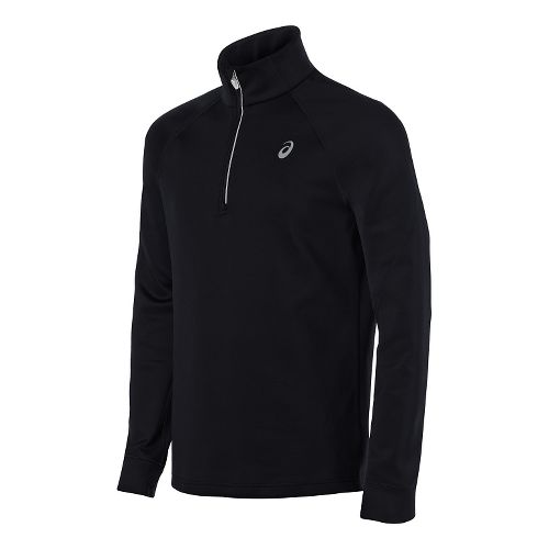Mens ASICS Thermal XP 1/2 Zip Long Sleeve Technical Tops - Performance Black M
