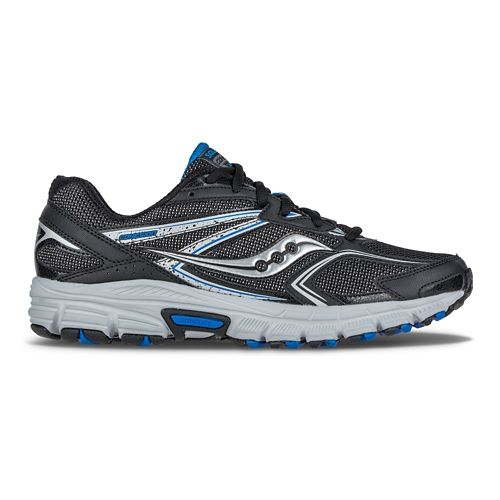 Mens Saucony Cohesion TR9 Trail Running Shoe - Black/Royal 8
