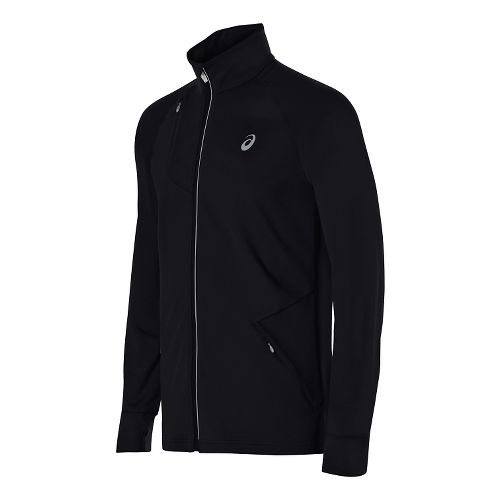 Mens ASICS Thermopolis Full Zip Running Jackets - Performance Black M