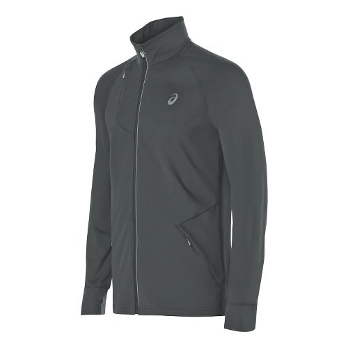 Mens ASICS Thermopolis Full Zip Running Jackets - Dark Grey L