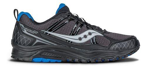 Mens Saucony Excursion TR10 Trail Running Shoe - Black/Royal 9.5