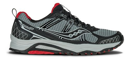 Mens Saucony Excursion TR10 Trail Running Shoe - Grey/Black/Red 10