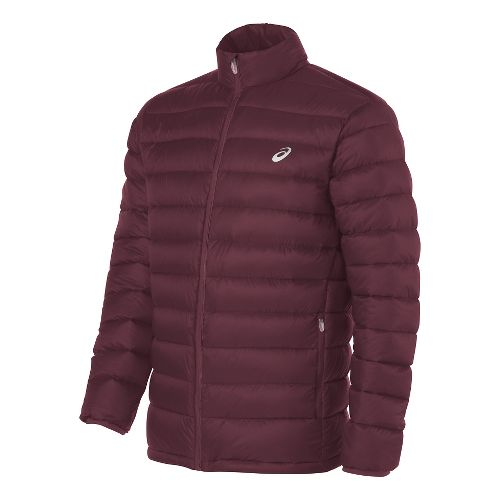 Mens ASICS Down Cold Weather Jackets - Dark Red XL