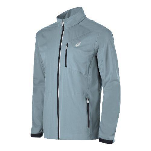 Mens ASICS Accelerate Running Jackets - Light Grey M