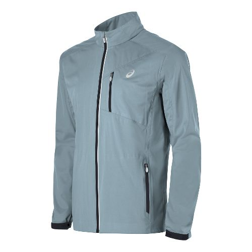 Mens ASICS Accelerate Running Jackets - Light Grey XL