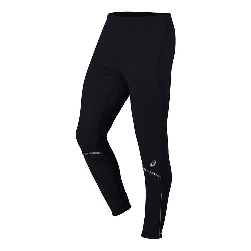 Mens ASICS Anatomic Softshell Tights & Leggings Pants - Performance Black M