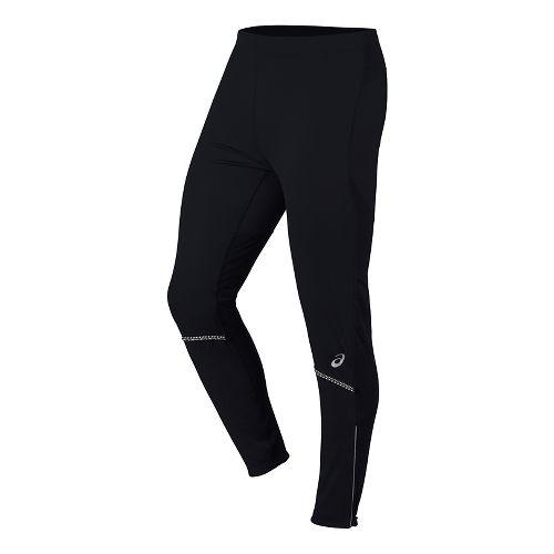Mens ASICS Anatomic Softshell Tights & Leggings Pants - Performance Black XL