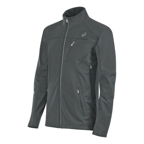 Mens ASICS Softshell Cold Weather Jackets - Dark Grey S