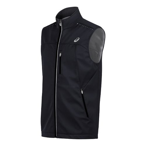 Mens ASICS Softshell Vests - Performance Black XXL