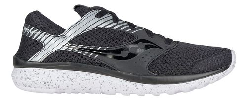 Mens Saucony Kineta Relay Reflex Casual Shoe - Black/Silver 8