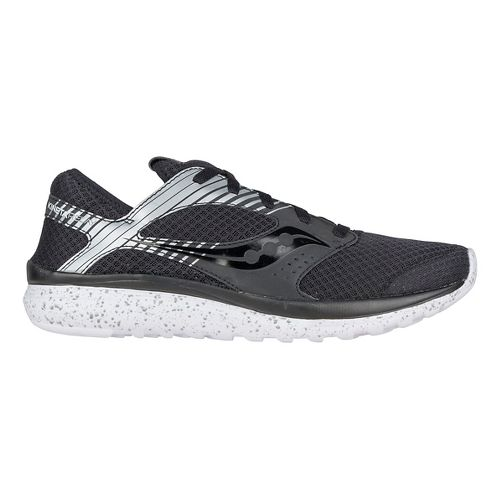 Mens Saucony Kineta Relay Reflex Casual Shoe - Black/Silver 8