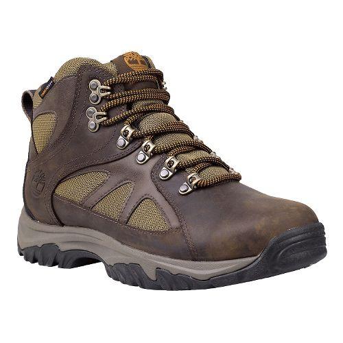 Mens Timberland Bridgeton Mid Waterproof Hiking Shoe - Dark Brown/Olive 9