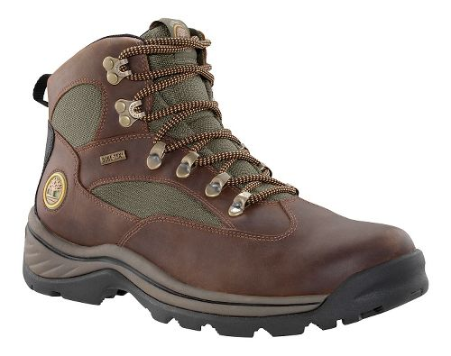 Mens Timberland Chocorua Trail Mid Waterproof Hiking Shoe - Dark Brown/Green 11