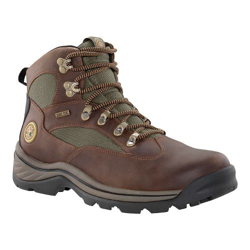 Mens Timberland Chocorua Trail Mid Waterproof GTX Hiking Shoe - Dark Brown/Green 10.5