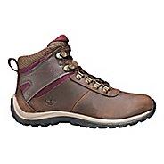 Womens Timberland Norwood Mid Waterproof Hiking Shoe - Dark Brown/Red 6