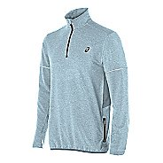 Mens ASICS Lightweight Fleece 1/2 Zip Long Sleeve Technical Tops