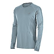 Mens ASICS Favorite Printed Long Sleeve Technical Tops