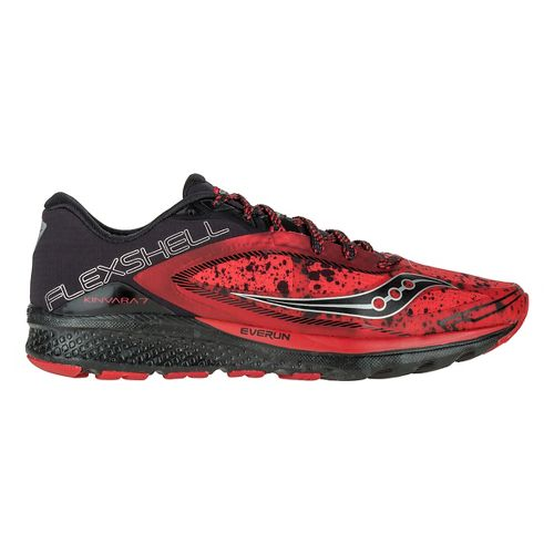 Mens Saucony Kinvara 7 Runshield Running Shoe - Red/Black/Silver 15