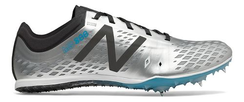Mens New Balance MD800v5 Track and Field Shoe - Silver/Black 8.5