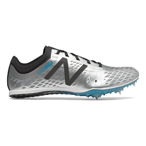 Mens New Balance MD800v5 Track and Field Shoe - Silver/Black 10.5