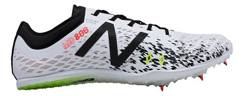 Mens New Balance MD800v5 Track and Field Shoe - White/Black 12.5