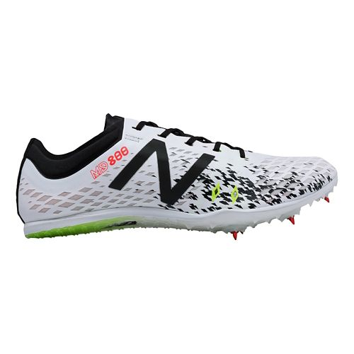 Mens New Balance MD800v5 Track and Field Shoe - White/Black 12.5