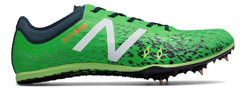Mens New Balance MD800v5 Track and Field Shoe - Green/Grey 9.5