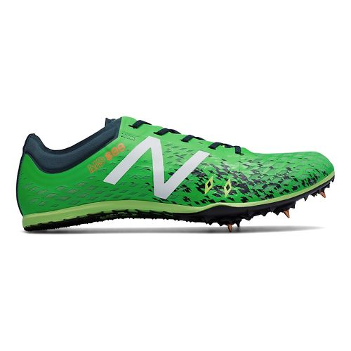 Mens New Balance MD800v5 Track and Field Shoe - Green/Grey 10.5