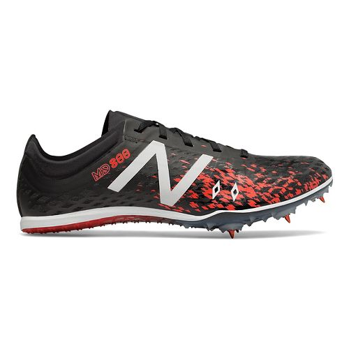 Mens New Balance MD800v5 Track and Field Shoe - Black/Flame 12.5