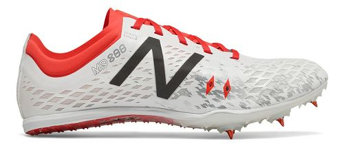 Womens New Balance MD800v5 Track and Field Shoe - White/Flame 7.5