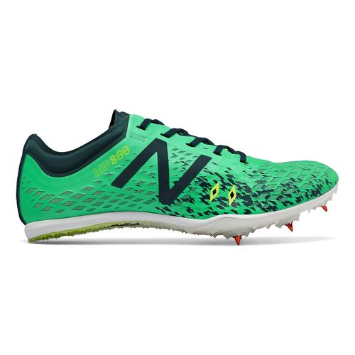 Womens New Balance MD800v5 Track and Field Shoe - Green/Grey 7.5