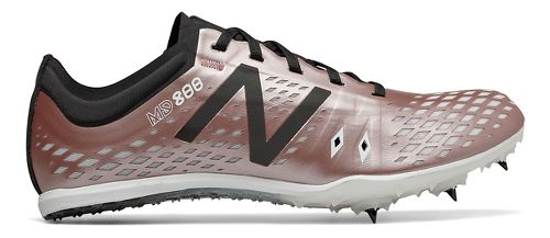 Womens New Balance MD800v5 Track and Field Shoe - Rose Gold/Black 8.5
