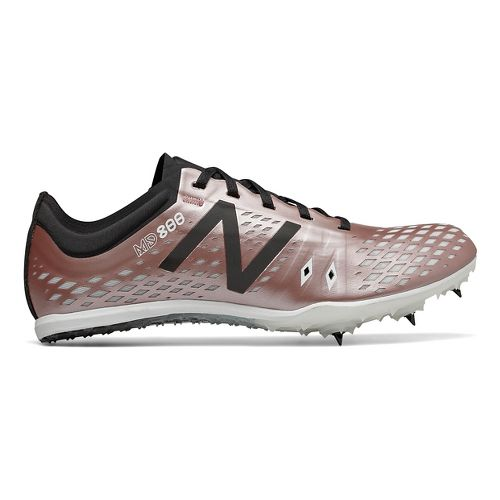 Womens New Balance MD800v5 Track and Field Shoe - Rose Gold/Black 7.5