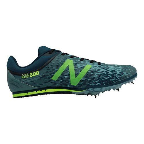 Mens New Balance MD500v5 Track and Field Shoe - Grey/Yellow 10