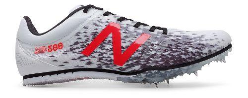 Mens New Balance MD500v5 Track and Field Shoe - White/Black 10.5