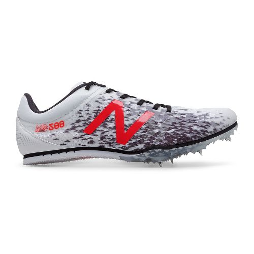 Mens New Balance MD500v5 Track and Field Shoe - White/Black 7.5