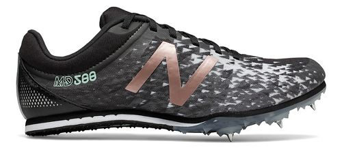 Womens New Balance MD500v5 Track and Field Shoe - Black/Rose Gold 8