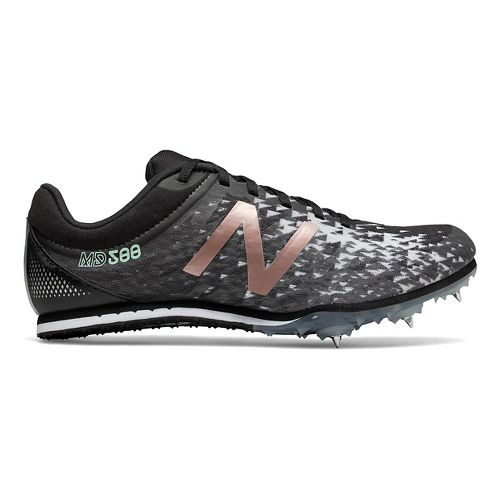 Womens New Balance MD500v5 Track and Field Shoe - Black/Rose Gold 10