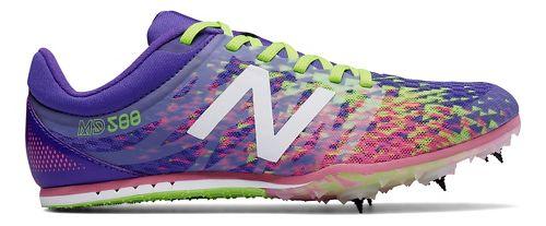 Womens New Balance MD500v5 Track and Field Shoe - Purple/Yellow 6.5