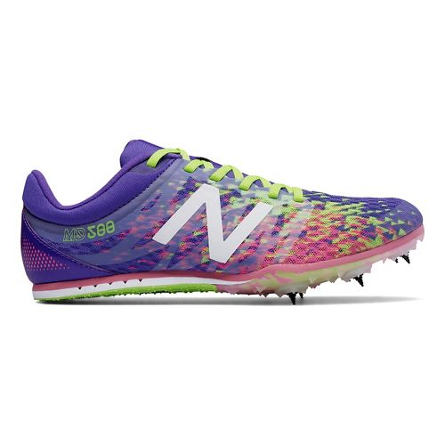 Womens New Balance MD500v5 Track and Field Shoe - Purple/Yellow 9.5