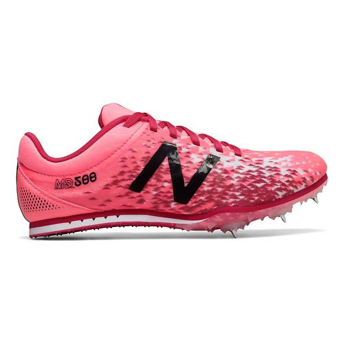 Womens New Balance MD500v5 Track and Field Shoe - Guava/Magnetic Pink 6