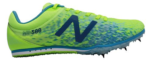 Womens New Balance MD500v5 Track and Field Shoe - Yellow/Blue 6