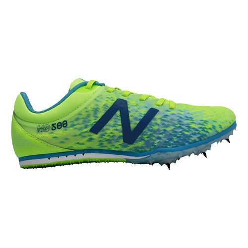 Womens New Balance MD500v5 Track and Field Shoe - Yellow/Blue 10.5