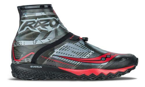 Mens Saucony Razor Ice+ Running Shoe - Black/White/Red 8.5